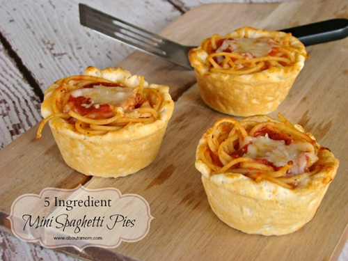 5 Ingredient Mini Spaghetti Pies
