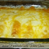 Simple Chicken Enchiladas with White Sauce