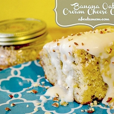 Banana Oat Cream Cheese Cake