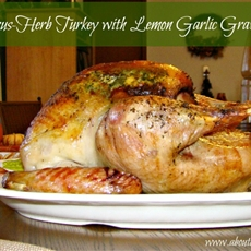 Citrus and Herb Turkey with Lemon-Garlic Gravy