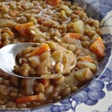 Grandma Lauras Lentil Soup