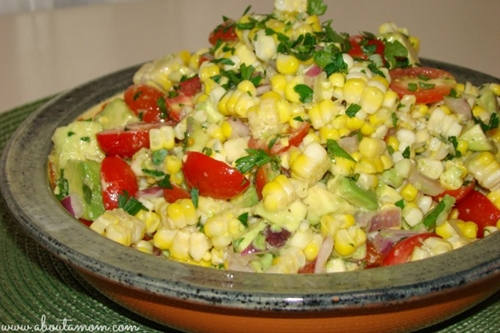 Sweet Corn, Tomato, and Avocado Salad