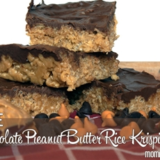 Chocolate Peanut Butter Rice Krispie Treats | Mommiedaze