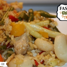 Fast and Easy Chicken Stir Fry with Rice from Saltwater Happy