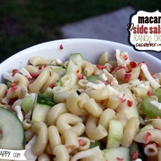 Macaroni Side Salad with Ranch Dressing, Cucumber, Celery and Bacon