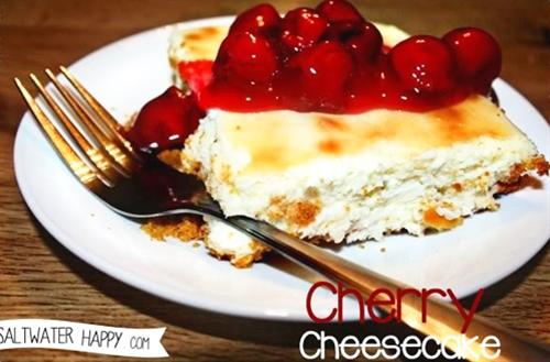 Shaun's baked cherry cheesecake