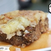 Homemade Meatloaf with mashed potato and tangy sauce