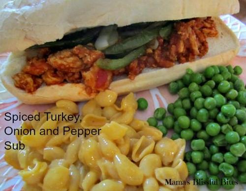 spicy turkey and onion, pepper sub