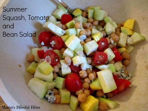 summer squash, tomato and garbanzo bean salad - ma