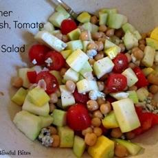summer squash, tomato and garbanzo bean salad - ma