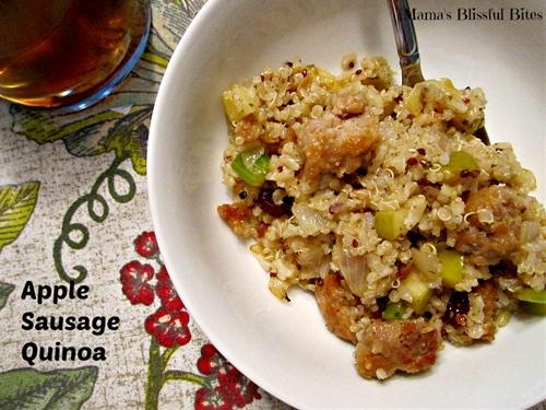 Apple sausage quinoa
