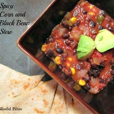 Spicy black bean and corn stew