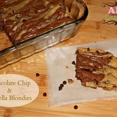 Chocolate Chip Nutella Blondies