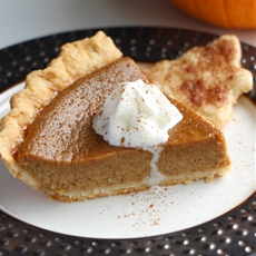 Sweet Homemade Pumpkin Pie