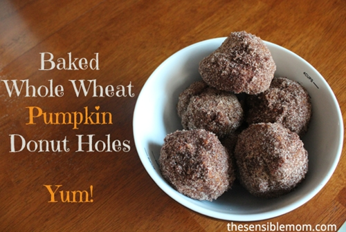 Baked Whole Wheat Pumpkin Donut Holes