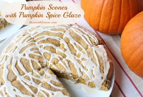 Pumpkin Scones with Pumpkin Spice Glaze