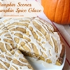 Pumpkin Scones with Pumpkin Spice Glaze