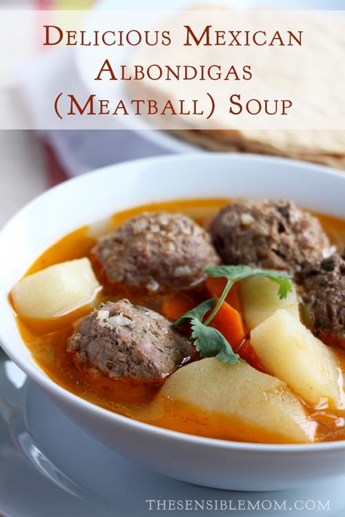 Mexican Albondigas (Meatball) Soup