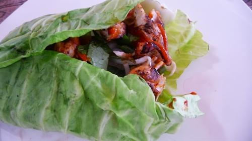 Bunless Burgers - Braised Cabbage Wraps