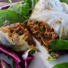 Shredded Chicken Cabbage Rolls