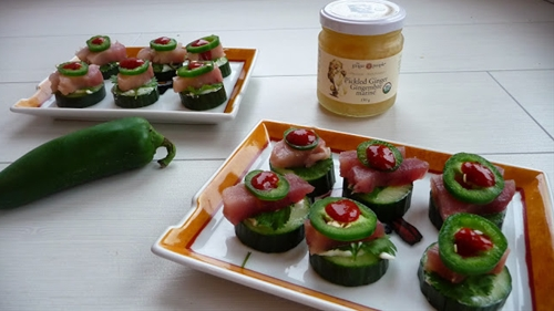 Jalapeno tuna stacks