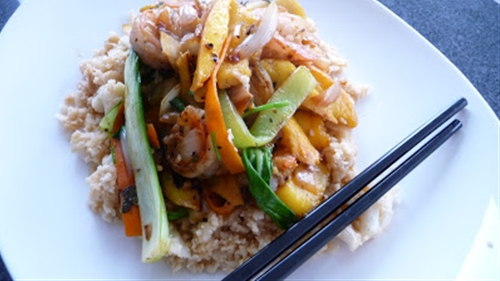 Vegetable Stirfry with Cauliflower Rice