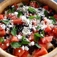 Jicama watermelon salad ~ pinks pantry