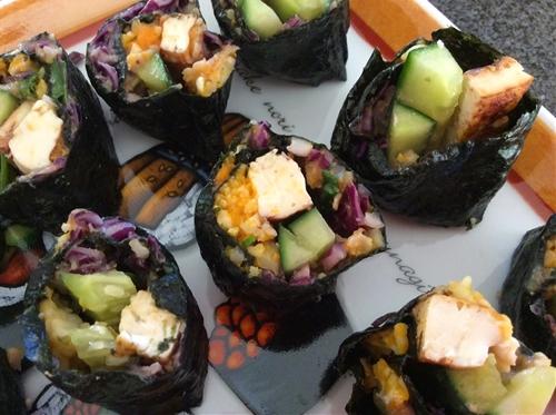 Kabocha Squash Sushi