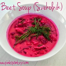 Cold beet soup ~ pinks pantry