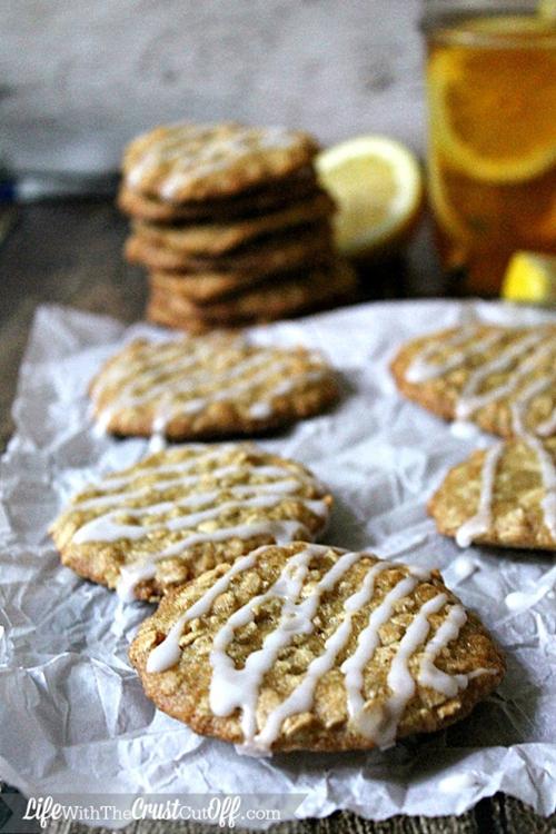 Lemon Oatmeal Iced Tea Cookies