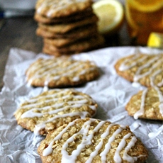 Lemon Oatmeal Iced Tea Cookies