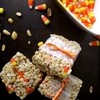 Candy corn & peanut rice crispy treats