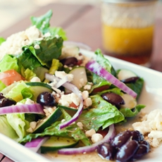 Greek salad + dressing