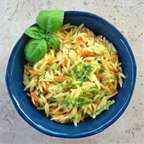 Cheesy Vegetable Orzo