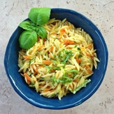 Cheesy Vegetable Orzo