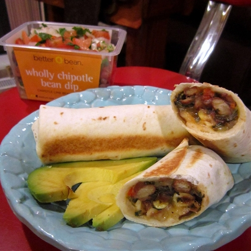Roasted Corn & Chipotle Bean Chimichangas