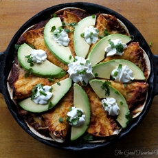 Picture Perfect Chicken Enchilada Pie