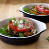 Heirloom Tomato & Grilled Eggplant Stacks