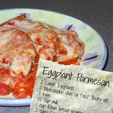 Low-fat Eggplant Parmesan