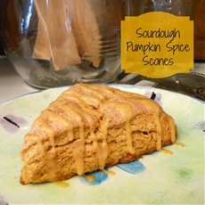 Sourdough Pumpkin Spice Scones