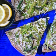 Shaved Asparagus Pizza with Lemon