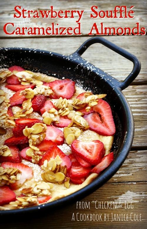 Strawberry Soufflé Omelet with Caramelized Almonds