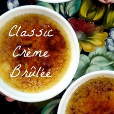 Classic Vanilla Bean Crème Brûlée