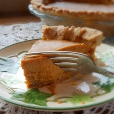 Triple Ginger Pumpkin Pie