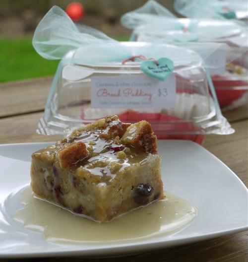Cranberry & White Chocolate Bread Pudding