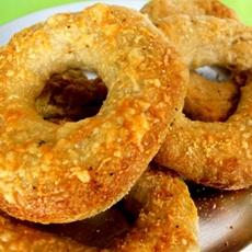 Asiago Cheese and Truffle Salt Bagles
