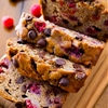 Dark chocolate chip raspberry banana bread