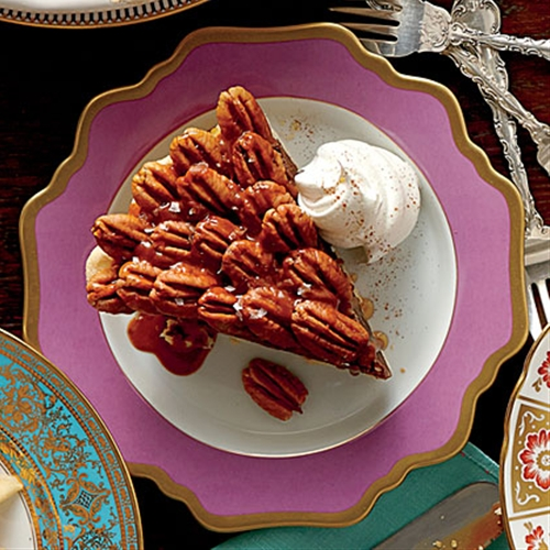 salted caramel-chocolate pecan pie recipe | Chefthisup