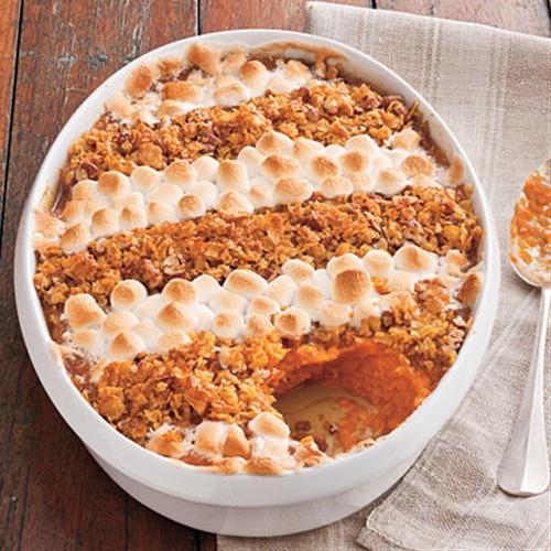 Cornflake, pecan, and marshmallow-topped Casserole