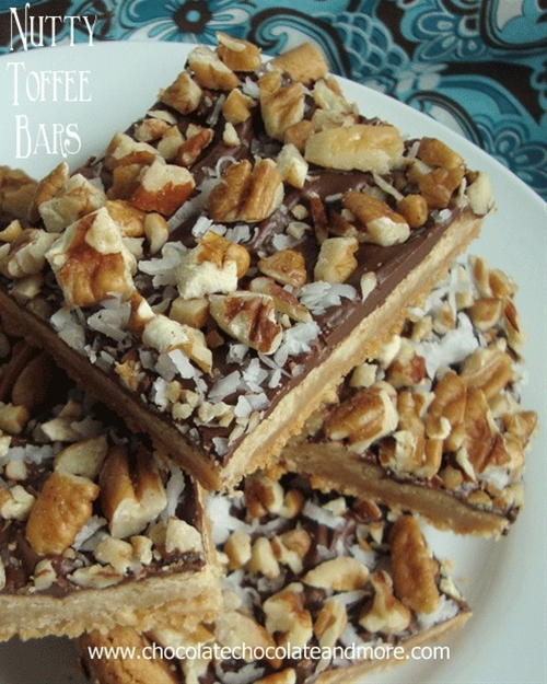 Nutty toffee bars